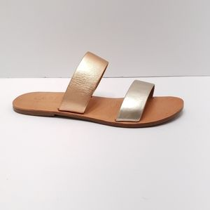 Able Joselyn Metallic Double Strap Sandal